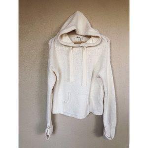 ANTHROPOLOGIE hoodie knit pullover sweater top